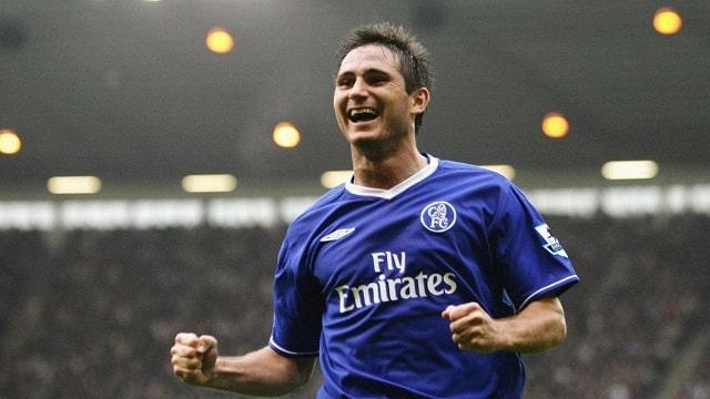 Frank Lampard trong màu áo xanh Chelsea