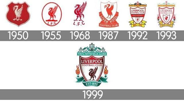 Huy hiệu củ câu lạc Liverpool qua các năm