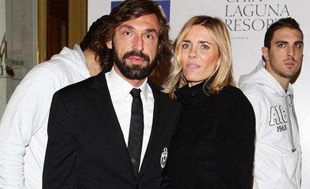 Andrea Pirlo cùng vợ