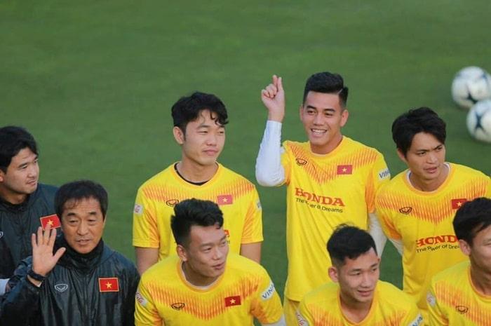 Tiến Linh và những đồng đội trong đội tuyển Việt Nam