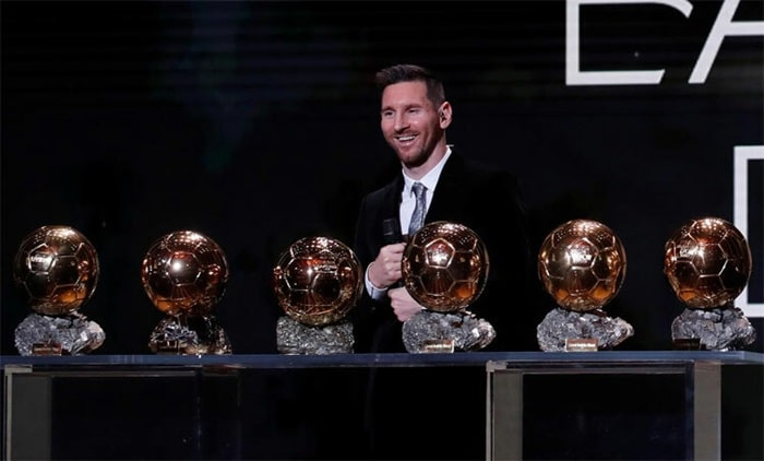 Messi là cầu thủ sở hữu nhiều quả bóng vàng nhất hiện nay