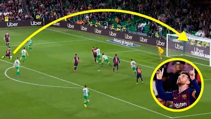 Messi có khá nhiều pha lốp bóng trong sự nghiệp cầu thủ của mình