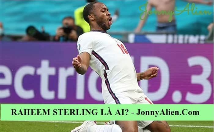 Raheem Sterling ăn mừng chiến thắng trước tuyển Đức tại EURO 2020