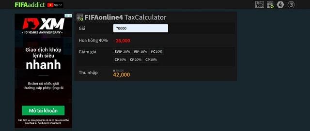 Tra cứu tính thuế của cầu thủ trong FO4