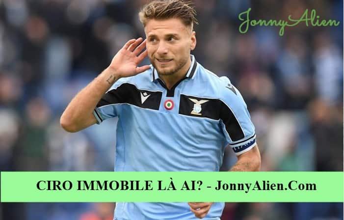 Ciro Immobile trong màu áo Lazio