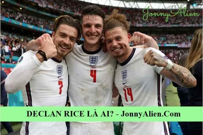 Declan Rice cùng các đồng đội tại bán kết Euro 2020