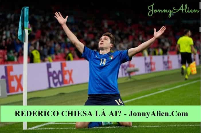 Federico Chiesa ăn mừng chiến thắng ở EURO 2020
