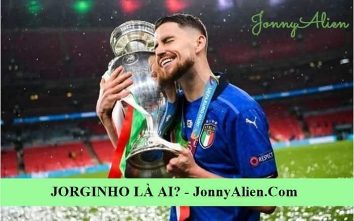 Jorginho ăn mừng chiến thắng EURO 2020