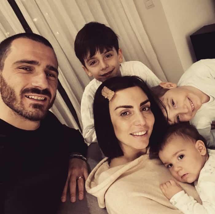 Leonardo Bonuccivà vợ cùng 3 con