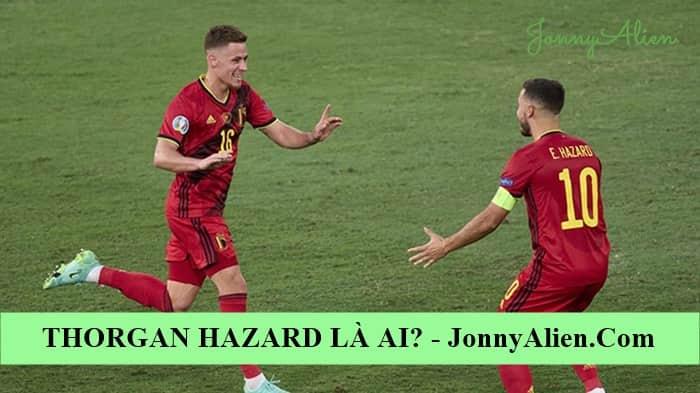 Thorgan Hazard và Eden ăn mừng chiến thắng tại EURO 2020